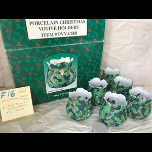Christmas Votive Candle Holders with Tea lites.